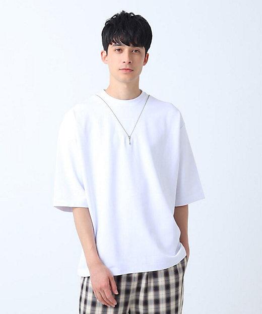 <tk. TAKEO KIKUCHI(Men)/ティーケー タケオキクチ> ネックレスデザインTシャツ シロ【三越伊勢丹/公式】