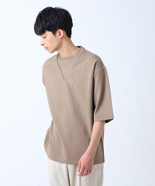 <tk. TAKEO KIKUCHI(Men)/ティーケー タケオキクチ> ネックレスデザインTシャツ ベージュ【三越伊勢丹/公式】