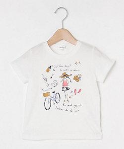 プリントクルーネックTシャツ(2001632742)