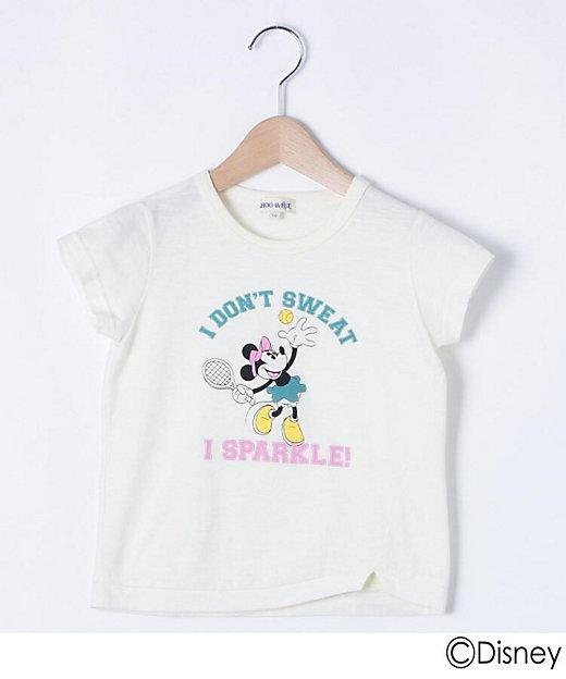 三越伊勢丹オンラインストア<SHOO・LA・RUE (Baby & Kids)/シューラルー> 「ミニーマウス」デザイン スリットTシャツ シロ【三越伊勢丹/公式】