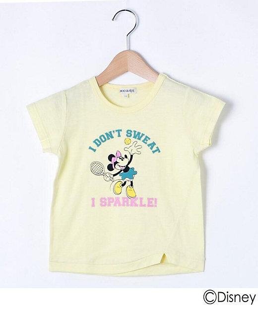 三越伊勢丹オンラインストア<SHOO・LA・RUE (Baby & Kids)/シューラルー> 「ミニーマウス」デザイン スリットTシャツ イエロー【三越伊勢丹/公式】
