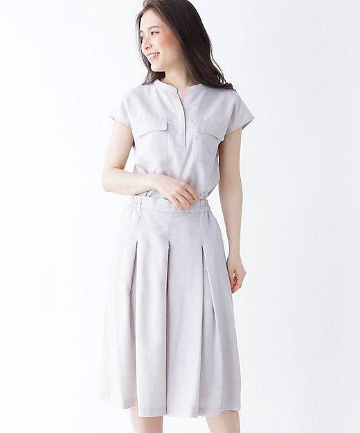 <SOUP(Women)/スープ> INNOWAVE スキッパーシャツ+キュロットパンツセット グレー【三越伊勢丹/公式】