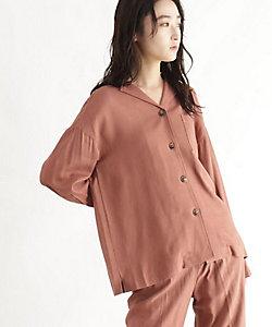 [洗える]麻混シャツジャケット(2001635792)