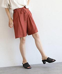 [洗える]リネンライク膝丈パンツ(2001691596)