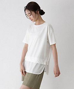 [洗える]レイヤード風半袖プルオーバー(2001695485)