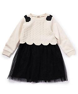 SHOO・LA・RUE (Baby&Kids)/シューラルー 【80-130cm】ケーブルジャガードドッキングワンピース(2001700355)