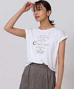 UNTITLED L(Women)/アンタイトルL [L]フレンチスリーブ ロゴTシャツ(2001706598)