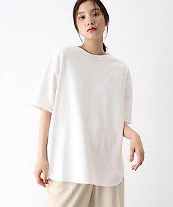 [洗える]GIZA COTTON BIGラウンドヘムTシャツ(2001718689)