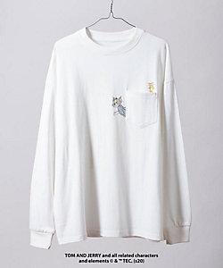 tk. TAKEO KIKUCHI(Men)/ティーケー タケオキクチ 【WEB限定】トムとジェリーポケットTシャツ(長袖)(2001734012)