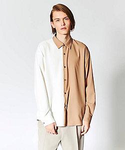 tk. TAKEO KIKUCHI(Men)/ティーケー タケオキクチ ハーフ&ハーフデザインシャツ(2001780938)