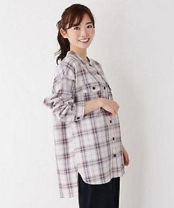 pink adobe/ピンクアドべ 【M-LL】チェックシャツ(2001788643)