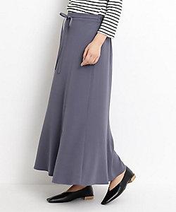 GROVE(Women)/グローブ 【S-LL】サテン細ベルト付ナロースカート(2001833523)
