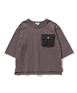 SHOO・LA・RUE (Baby&Kids)/シューラルー 【90-130cm】ポケット異素材七分袖プルオーバー(2001846422)