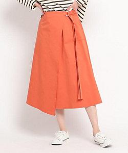 Dessin(Women)/デッサン 【S~L】コットンサテンラップ風スカート(2001847406)