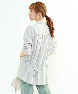INDIVI S(Women)/インディヴィS 「S」ソアトリュフプリーツデザインシャツ(2001850510)