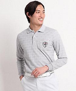 adabat/アダバット シャドー千鳥柄 長袖ポロシャツ(2001853598)