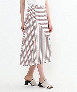 INDIVI(Women)/インディヴィ ストライプ柄切替デザインスカート(2001867904)