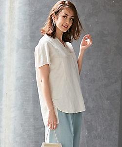 ICB L(Women)/アイシービーL Soft Linen ブラウス(BLCMBA0010)