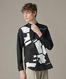 JOSEPH (Men)/ジョゼフ ジオメトリックプリントシャツ  / バンドカラー(HSJHIS0201)