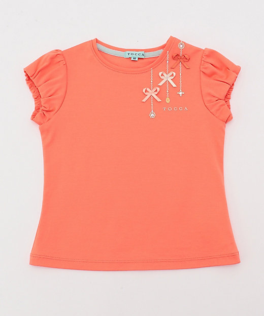 <TOCCA BAMBINI(Baby & Kids)/トッカ バンビー二(KIDS)> プチビジュー Tシャツ(KKT8BM0400) オレンジ【三越伊勢丹/公式】