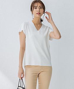 ICB(Women)/アイシービー Synthetic Stretch 半袖ニット(KRCYBA0011)