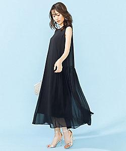 組曲 L(Women/大きいサイズ)/クミキョクL 【PRIER】ノースリーブAラインドレス(OPWLBA0841)