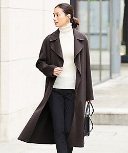 ICB(Women)/アイシービー 【マガジン掲載】WoolRever ベルテッドコート(番号CJ25)(SCCYBW0430)