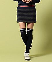 三越・伊勢丹/公式【SALE(伊勢丹)】<23区GOLF> シャギーボーダースカート(SKVLYW0438) ネービーブルー