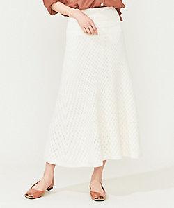 パターンミックス ニットスカート(SKWLBM0555)