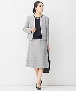 自由区 L(Women/大きいサイズ)/ジユウクL 【Sサイズ有】カラミ ツイード スカート(SKWRIS0025)