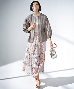 自由区 L(Women/大きいサイズ)/ジユウクL スモールフラワープリント スカート(SKWRIS0226)