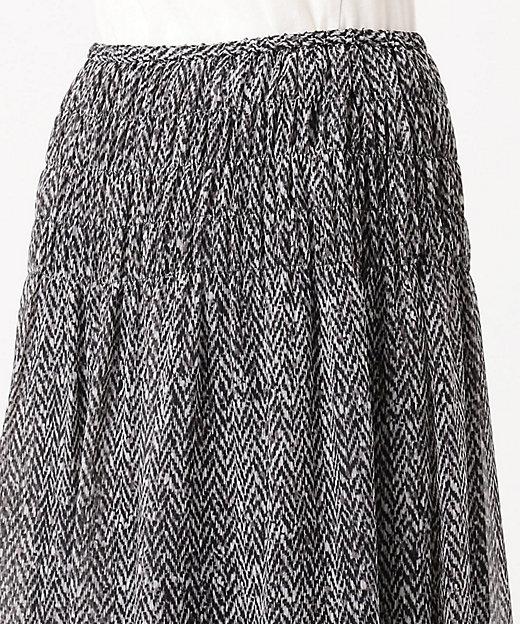 シフォンクレープ プリントスカート(検索番号K29)(SKWSKW0501)