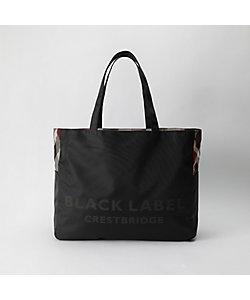 BLACK LABEL CRESTBRIDGE(Men)/ブラックレーベル・クレストブリッジ ナイロンオックスクレストブリッジチェックリバーシブルトート(51125507__)