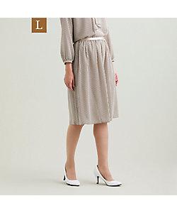 TRANSWORK L(Women)/トランスワークL 【L】【ウォッシャブル】ラインハートプリントスカート(U3S12456__)