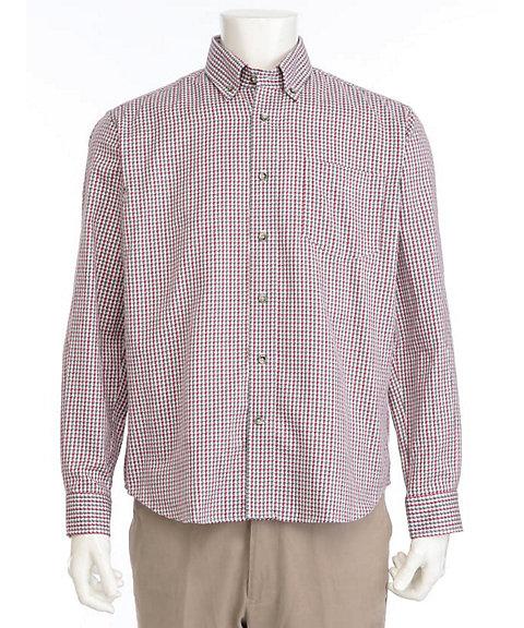 <OPUS>【紳士大きいサイズ】【シンプルライフ】カラーチェックジャカードBDシャツ(2319425203) 75レッド【三越・伊勢丹/公式】