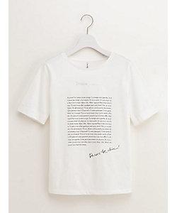 ENSUITE(Women)/エンスウィート グラフィックロゴTシャツ(5400270043)