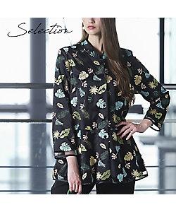 Liliane Burty(Women/大きいサイズ)/リリアン ビューティ 【Selection】 ベルギー製 チュールリーフ刺繍ブラウス(50032161)