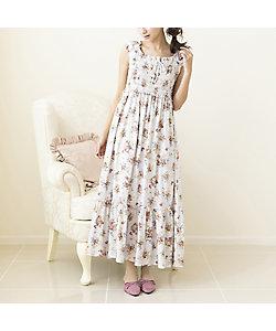 Rose Tiara(WOMEN/大きいサイズ)/ローズティアラ(大きいサイズ) 【 ouchi de Rose 】 シャーリングマキシワンピース(51012132)