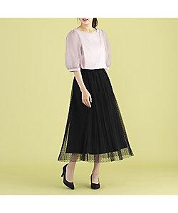 Rose Tiara(WOMEN/大きいサイズ)/ローズティアラ(大きいサイズ) チュールドットフレアスカート(51042101)