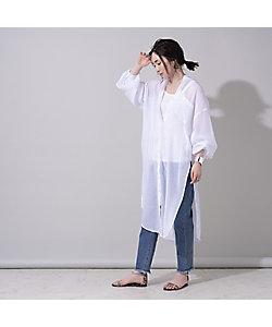 EUCLAID(Women)/エウクレイド シアーシャツワンピース(88013008)