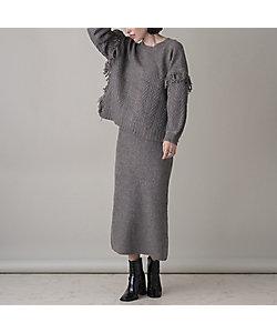 EUCLAID(Women)/エウクレイド バックスリットニットスカート【セットアップ可】(88046008)
