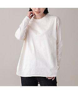 EUCLAID(Women)/エウクレイド 綿天竺ロングスリーブTシャツ(88125006)