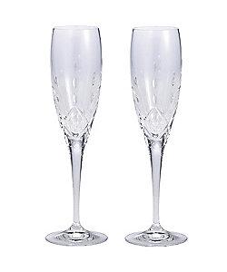 WEDGWOOD/ウェッジウッド ティアドロップ クリスタル シャンパン ペア