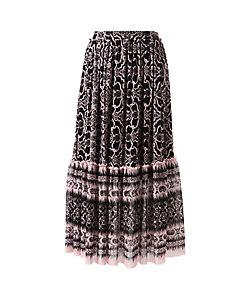 VIVIENNE TAM(Women) /ヴィヴィアン タム DAMASK PRINT ON ST NETTING スカート