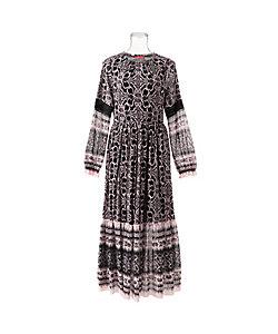 VIVIENNE TAM(Women) /ヴィヴィアン タム DAMASK PRINT ON ST NETTING ドレス