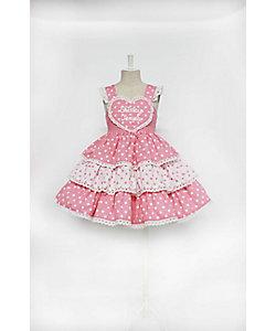 SHIRLEY TEMPLE(Baby&Kids)/シャーリーテンプル ハートロゴドットフリルジャンパースカート