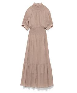 CASA FLINE(Women)/カーサフライン ハイネックタックパフスリーブドレス