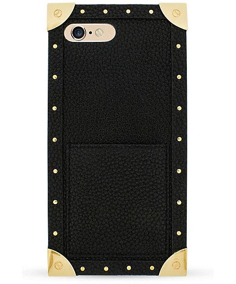 <アイフォリア/IPHORIA> TRUNK CASE BLACK スマートフォンケース(iPhone7Plus/iPhone8Plus対応)(14138) 【三越・伊勢丹/公式】