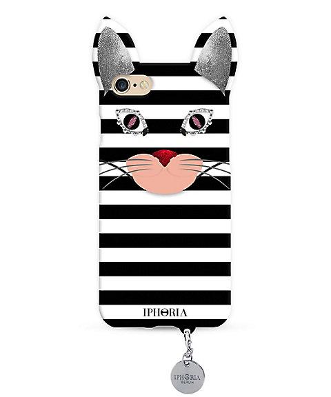 <アイフォリア/IPHORIA> WILD CASE STRIPY CAT スマートフォンケース(iPhone7/iPhone8対応)(14312) 【三越・伊勢丹/公式】