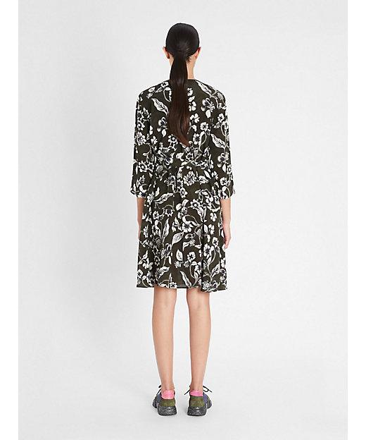 ピュアシルク クレープデシン ドレス